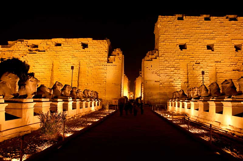 Sound and Light Show at Karnak Temple in Luxor
