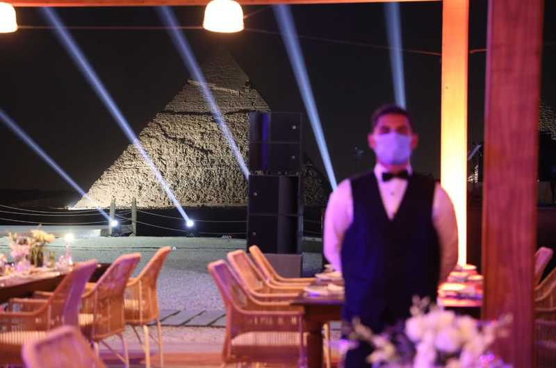 The opening of the first restaurant in the pyramids area