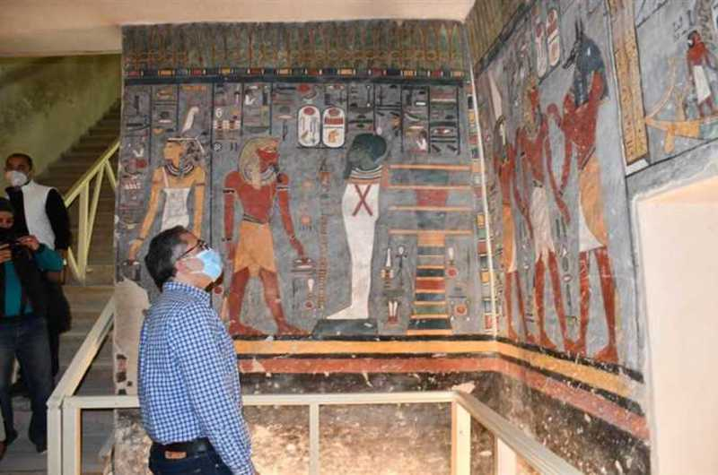 Reopening the tomb of Ramses I after its restoration